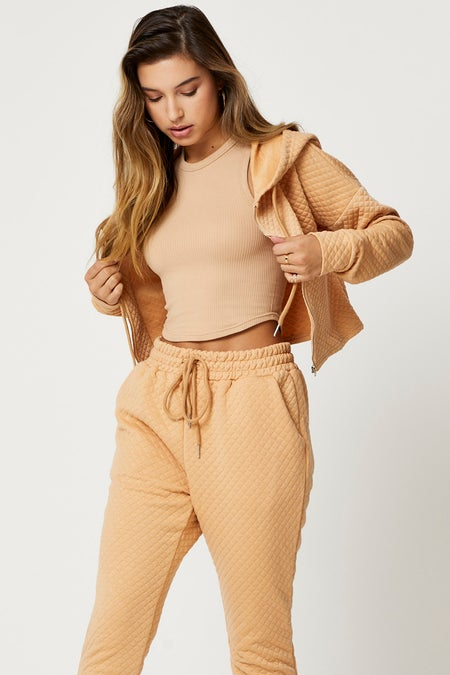 Quilted Lounge Hoodie $23.99 was $29.99