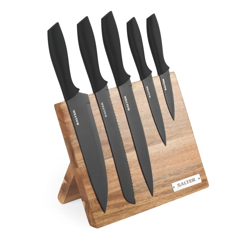 Salter 5-Piece Wooden Magnetic Knife Block $59 RRP $139.95 (SAVE 58%)
