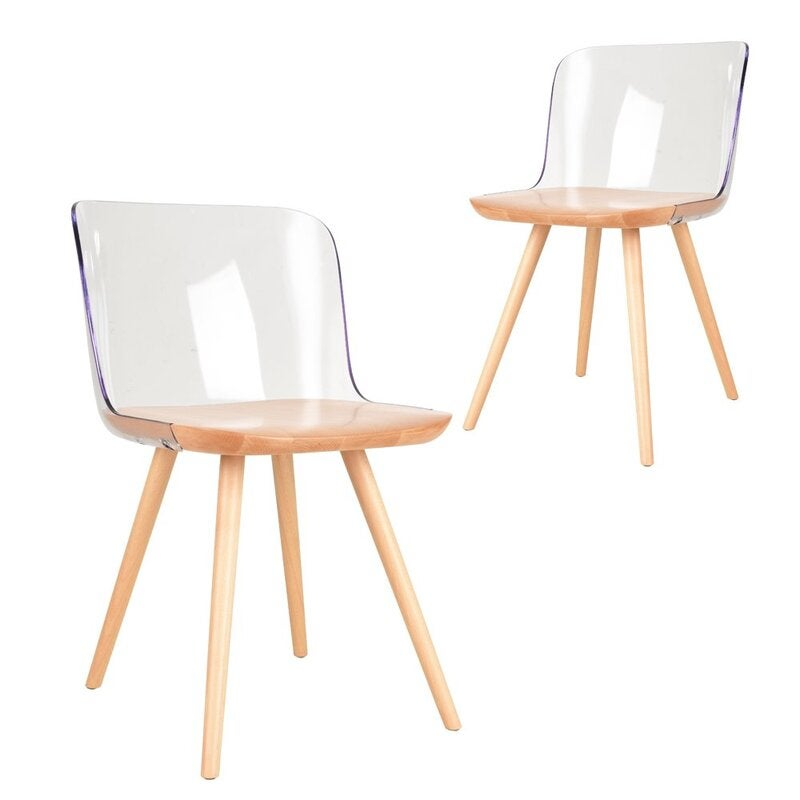 Simplife Set of 2 Clark crystal dining chair – natural color $390 RRP $620.00 (SAVE 37%)